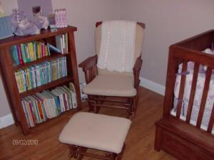 glider and bookcase for site