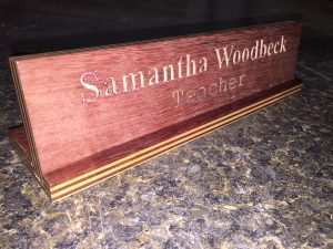 Desk name plate (1)
