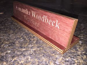Desk name plate (3)