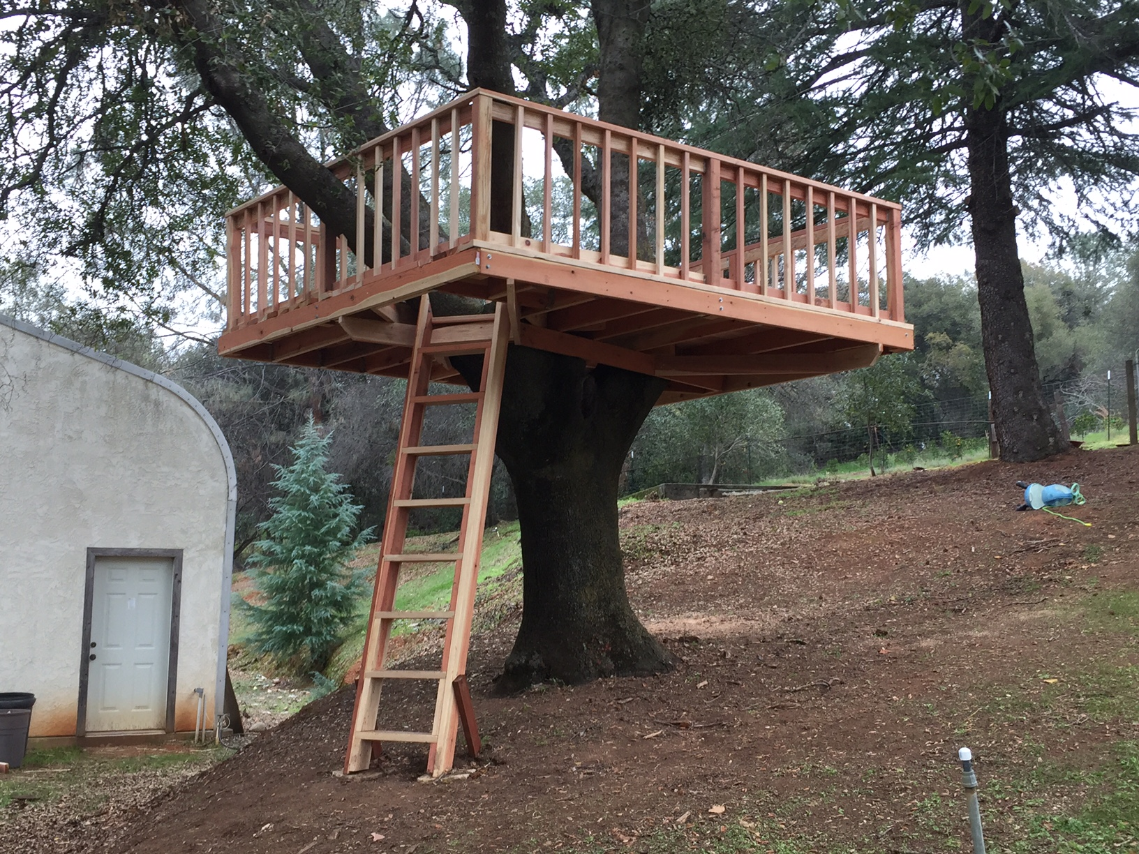 Treehouse Platform Woodwork By Woodbeck