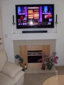 Fireplace and TV Mounted for site